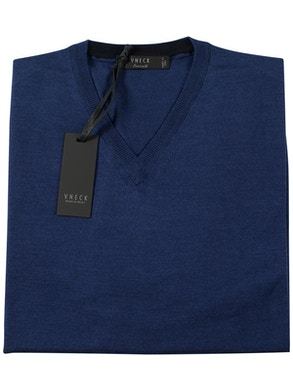 royal blue v-neckline sweater