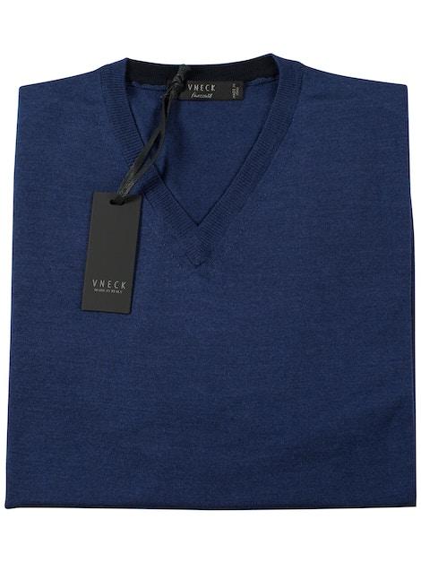 royal blue v-neckline sweater