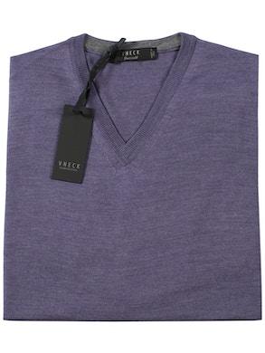 melange violet v-neckline sweater