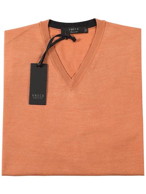 salmon v-neckline sweater