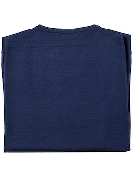 girocollo tubolare royal blu con spacchi nel fondo finezza 18