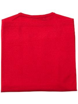 girocollo tubolare rosso con spacchi nel fondo finezza 18