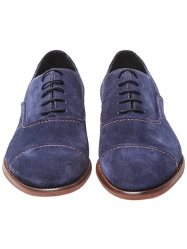oxford in suede blu navy