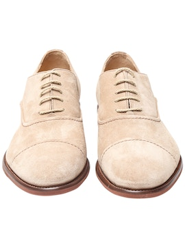 Oxford in suede crema