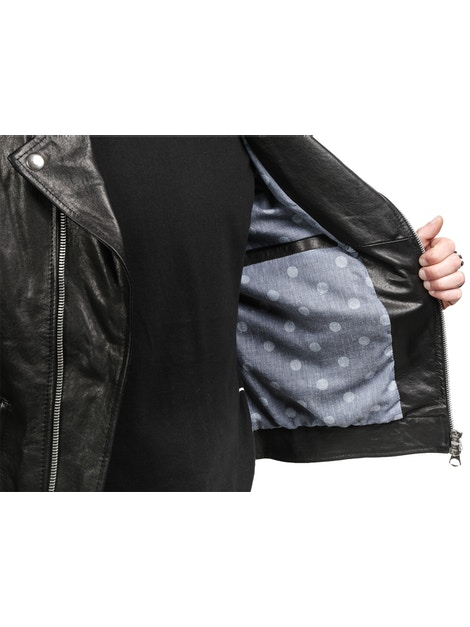 black leather Nail jacket