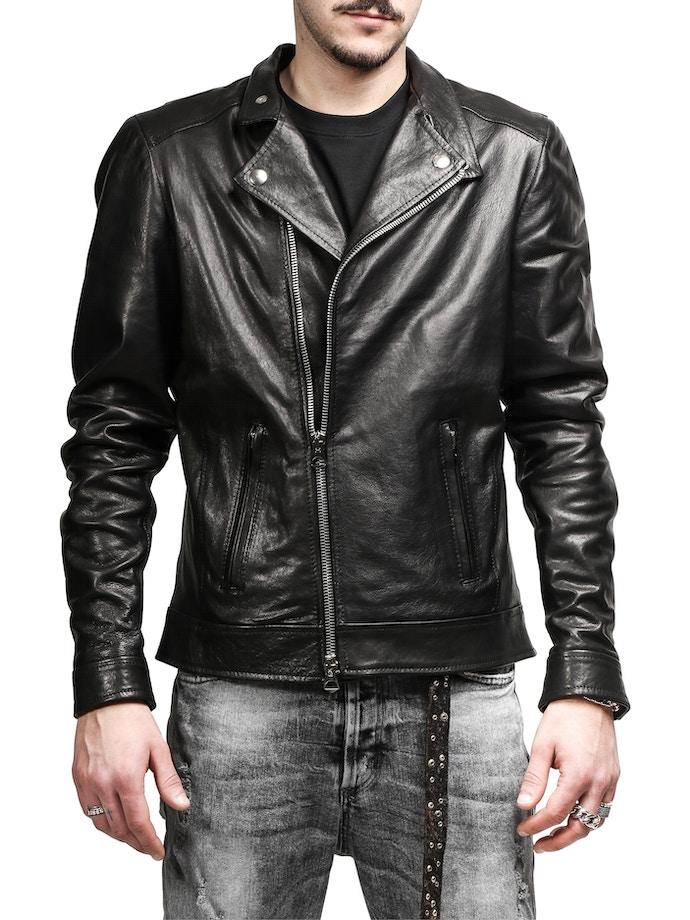 black leather Nail jacket