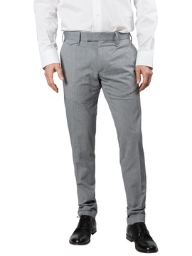 Light blue trousers with geometric design