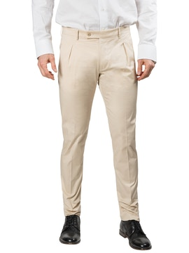 cream color trousers with pence