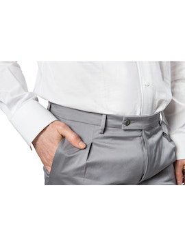 Grey trousers with pence