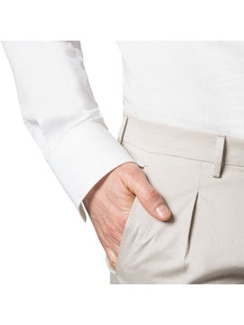 Beige trousers with pence
