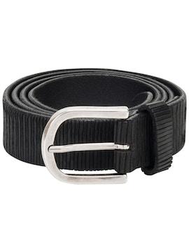 Black carved belt