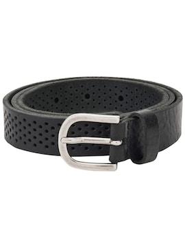 Black perforated belt