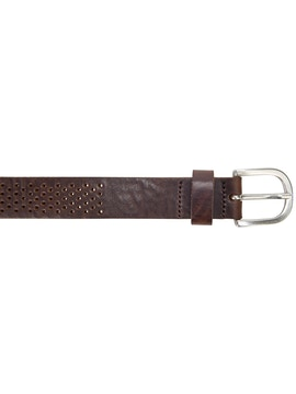 Brown perforated belt