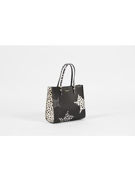 black handbag in real calf leather