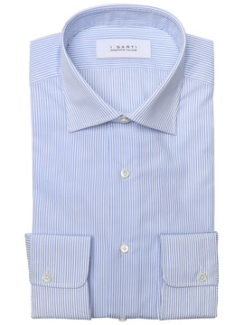 light blue and blue striped shirt