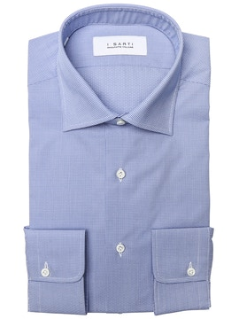 light blue microdesign shirt