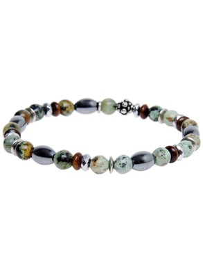 Oval Bracelet with African Stone