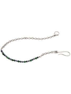 Chain Wallet with Malachite and Hematite