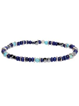 Anthracite hematite and turquoise Aulite Bracelet
