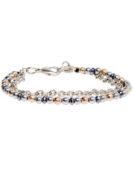 Double Bracelet in Hematite