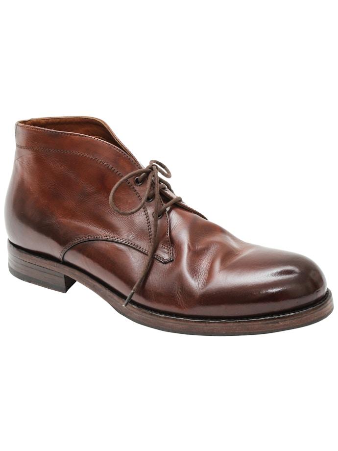 e14361fc827 Leather chukka boot old brandy   Italian Grace