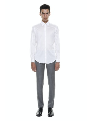 Mercerized Cotton Lisle Shirt White Color