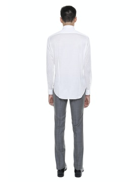 Mercerized Cotton Lisle Shirt White Color