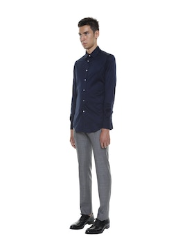 Mercerized Cotton Lisle Shirt Blue Color