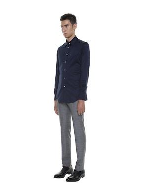 Mercerized Cotton Lisle Shirt Blue Color