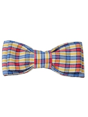 multicolor pattern bow tie