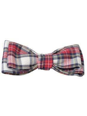 tartan pattern bow tie