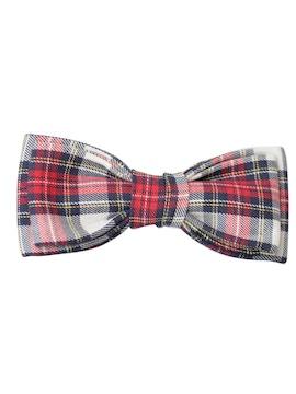 checked design bow tie