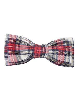 checked design bow tie