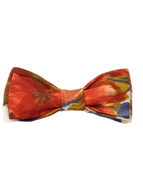 red floral design bow tie