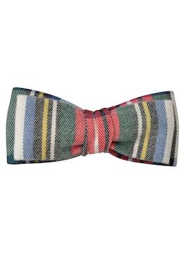 multicolor stripes bow tie