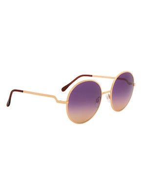 Logan Gold Rose – Gradient Purple Lenses