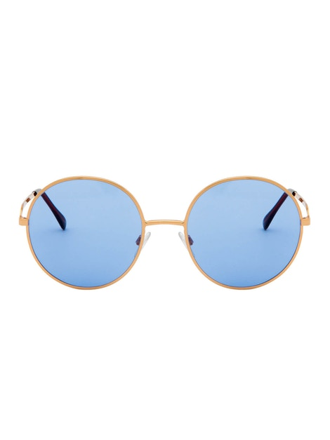 Logan Gold Rose – Light Blue Lenses