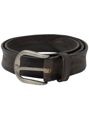 Brown garment dyeing leather belt h3,5