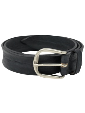 Black garment dyeing leather belt h3,5