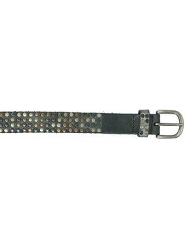 Brown belt with studs h2,5