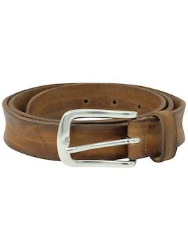 Cintura cuoio tinta in capo pelle slavata h2,5