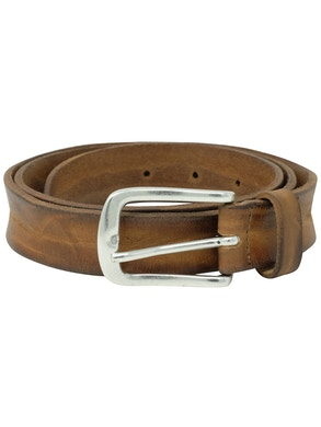 Garment dyed skin washed leather belt h2,5