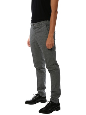 black and sand trousers