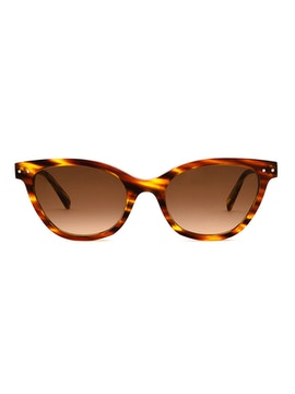 Audrey Striped Havana - Gradient Brown Lenses