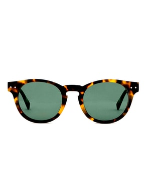Woody Blonde Tortoise - Green Lenses