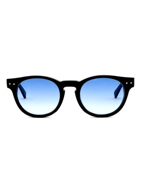 Woody Black - Gradient Blue Lenses