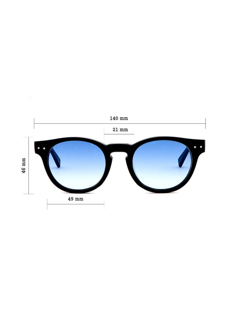 Woody Matte Black - Gradient Blue Lenses