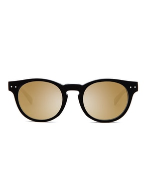 Woody Black - Gradient Gold Mirror Lenses
