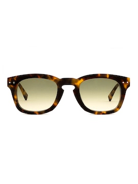 Clark Blonde Tortoise - Gradient Green Lenses