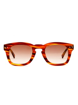 Clark Striped Havana - Gradient Brown Lenses